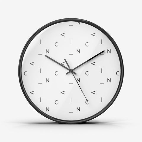 Jumbled Letter Wall Clock — Silent Non Ticking