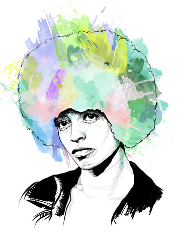 Angela Davis Portrait Art Print