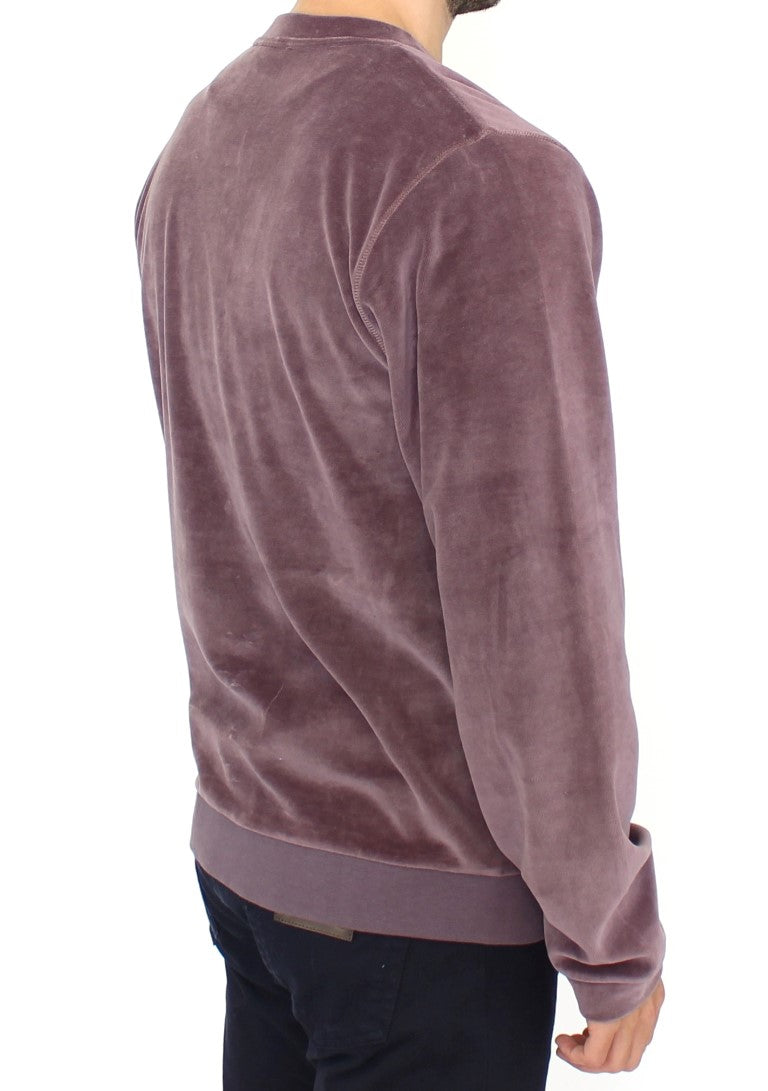 Purple v-neck cotton sweater