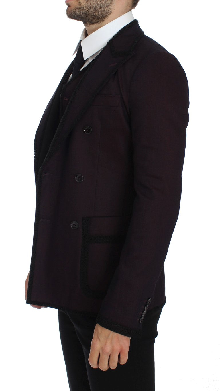 Purple Torero Slim Fit Stretch Blazer