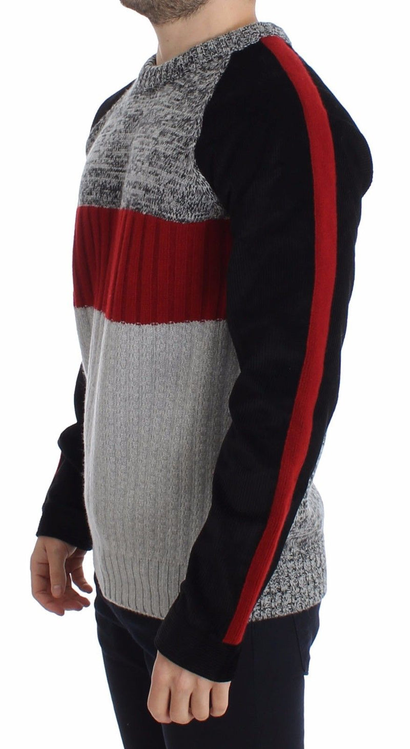 Knitted Wool Cashmere Crewneck Sweater Pullover