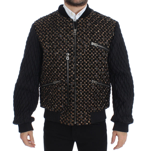 Black Sequined Goatskin Jacket