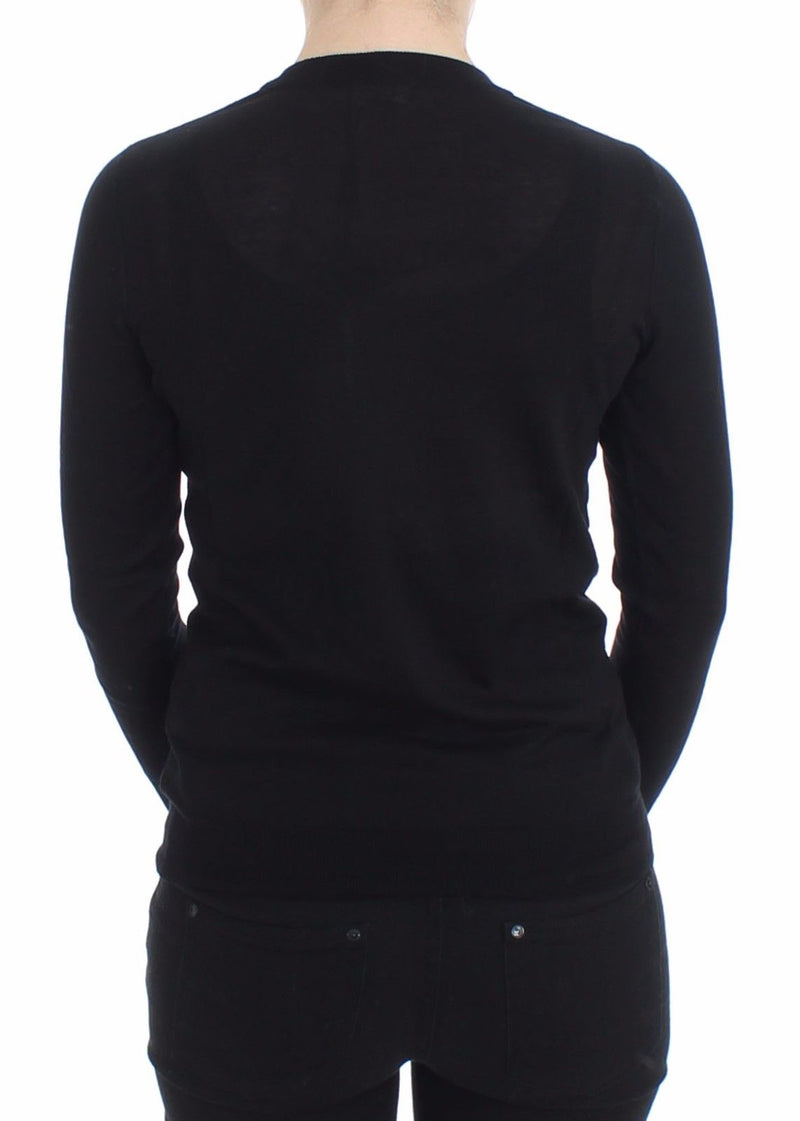Black Crewneck Sweater Pullover Top