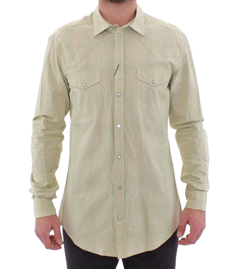 Green Yellow Checkered SICILIA Casual Shirt