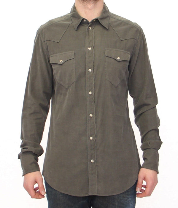 Exclusive Green Manchester Sicilia Casual Shirt
