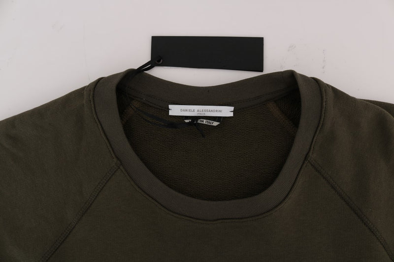 Green Crewneck Cotton Sweater