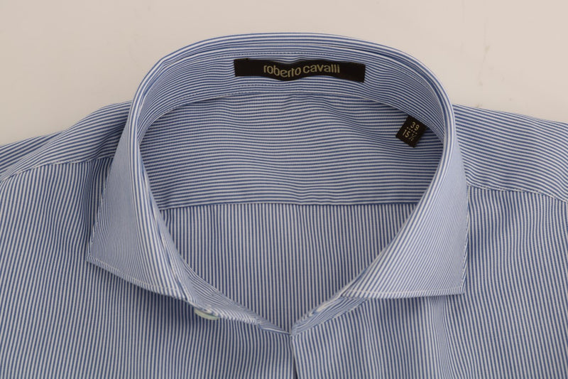 Blue Striped Slim Fit Dress Shirt