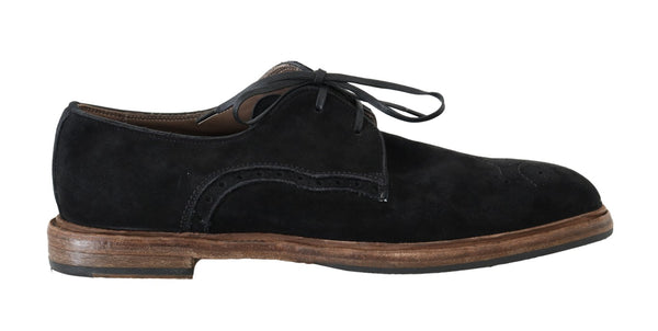 Black Suede Leather Formal Shoes