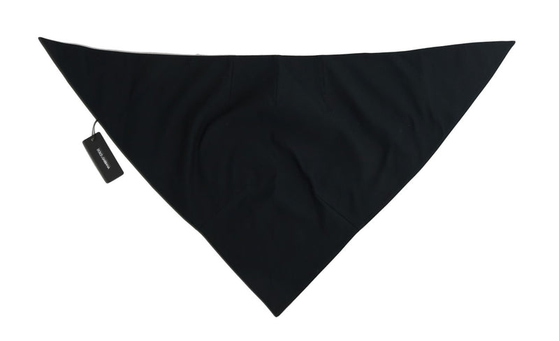 Black Wool Triangle Scarf