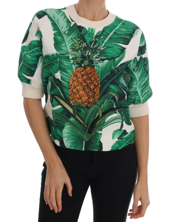 Pineapple Banana Sequins Crewneck Sweater