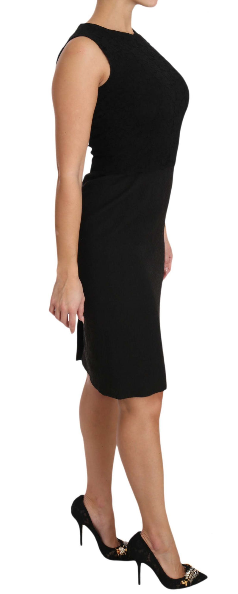 Black Stretch Sheath Bodycon Mini Dress