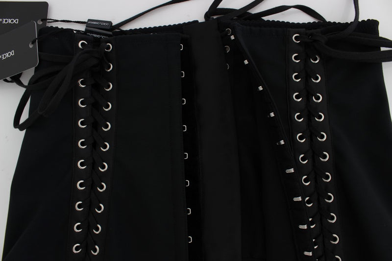 Black Stretch Waist Strap Corset Belt