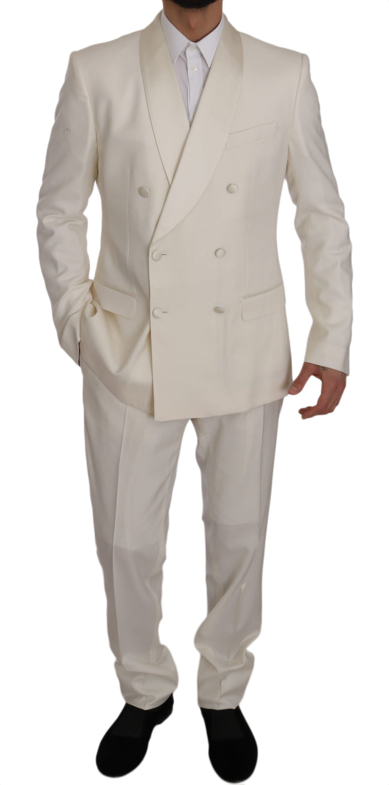 White MARTINI Double Breasted Slim Suit