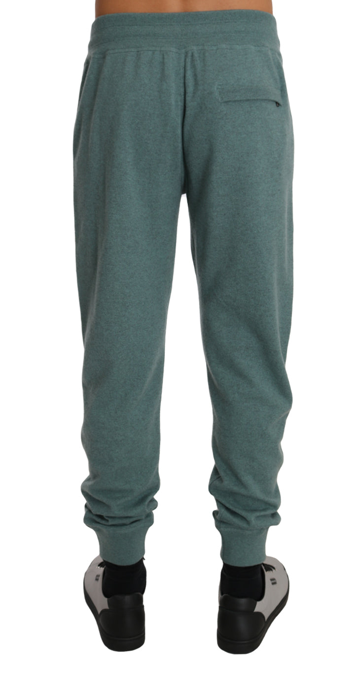 Mint Green Cashmere Casual Warm Sweatpants