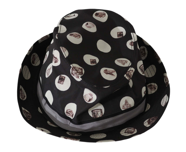 Musical Instrument Print Fedora Cotton Hat