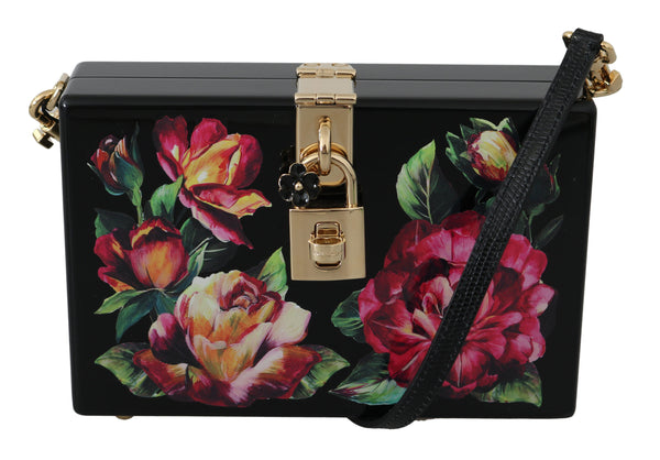 Hand Painted Wooden Roses Purse Bag