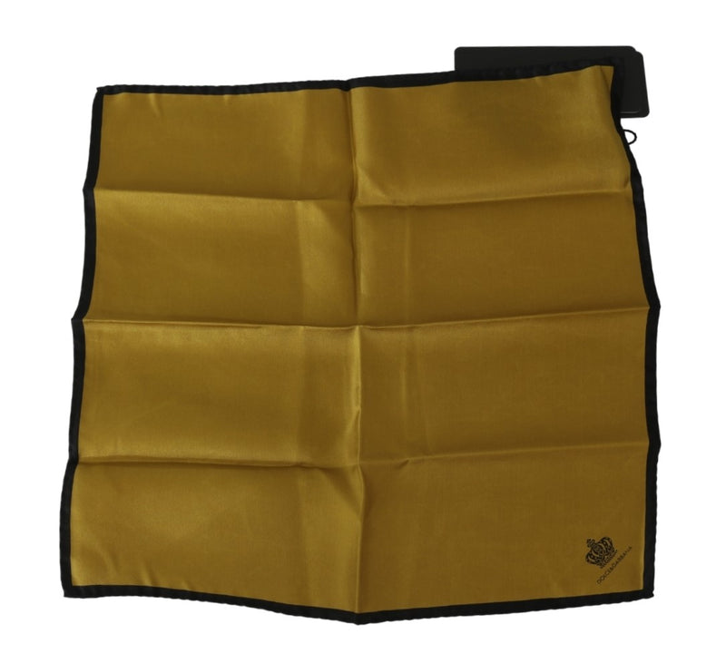 Mustard Crown DG Logo Silk Handkerchief
