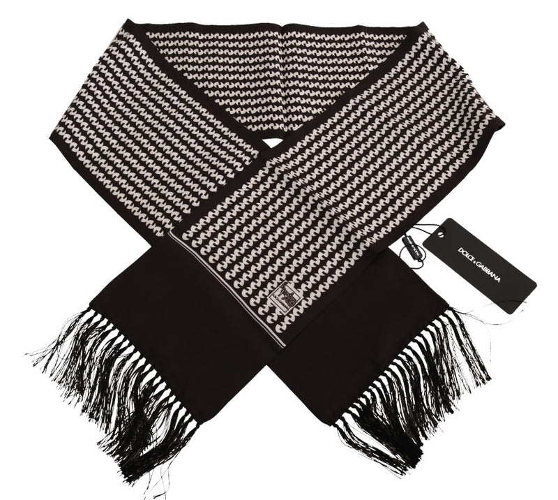 Brown Baroque Fringes Mens Wrap 140cm x 15cm Scarf