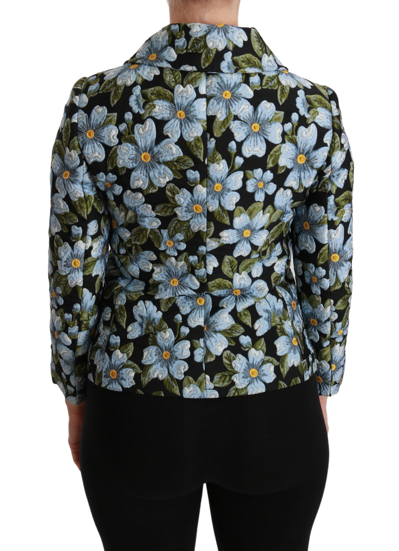 Multicolor Floral Blazer Coat Polyester Jacket