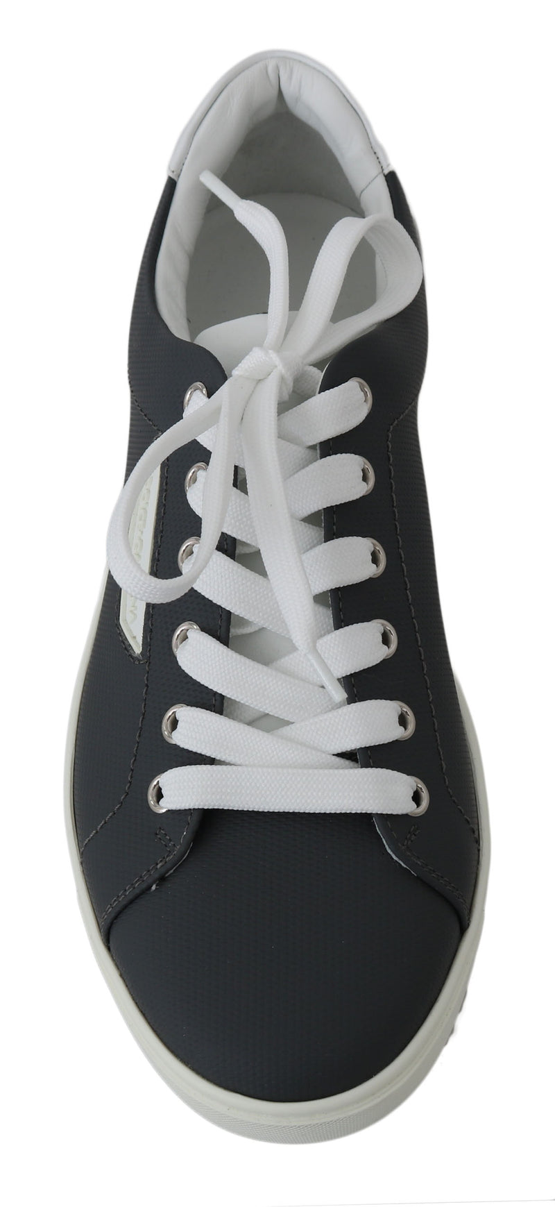 Gray Logo Leather Casual Mens Sneakers