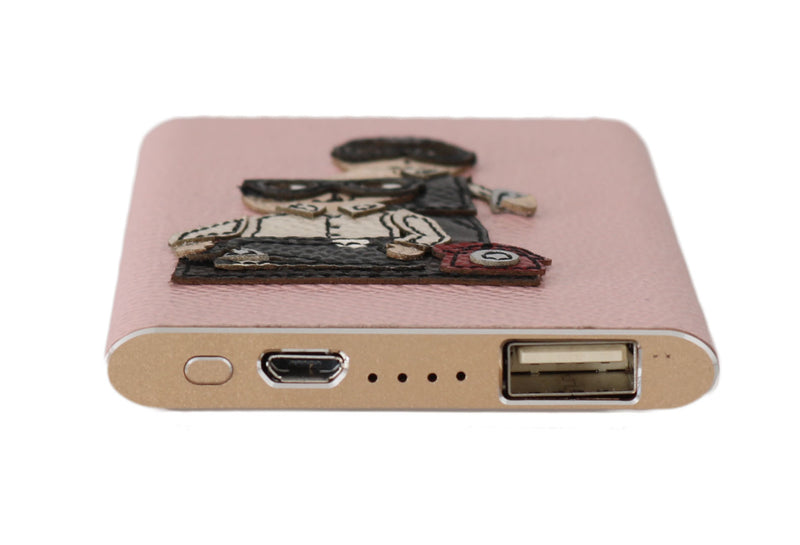 Charger USB Pink Leather #DGFAMILY Power Bank
