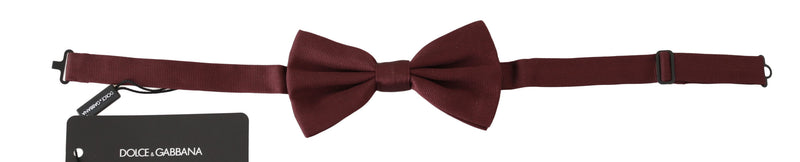 Maroon 100% Silk Jacquard Men  Bow Tie Papillon