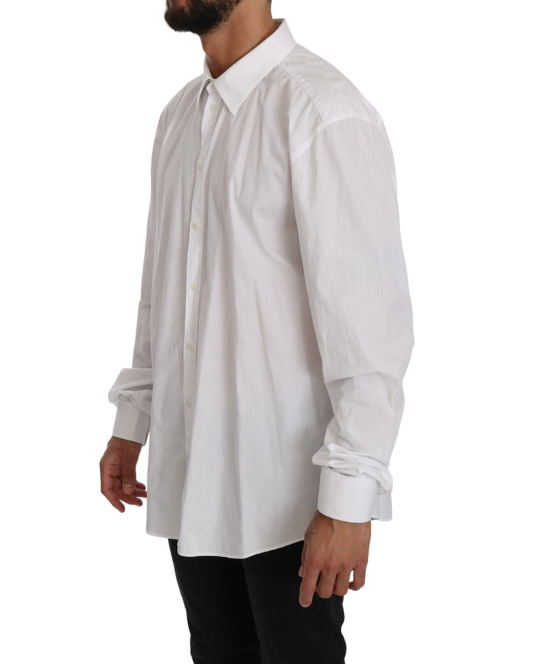 White Cotton Dress Formal Top MARTINI  Shirt