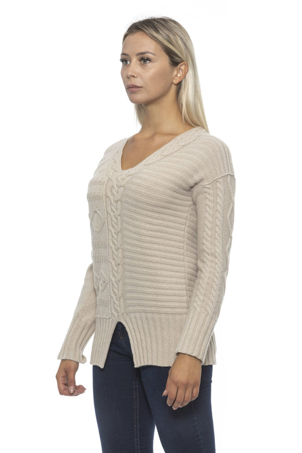 Beige Wool Cashmere Sweater