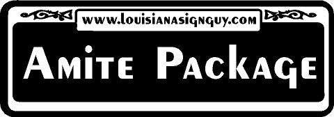 Amite Package - Louisiana Sign Guy | Signs, Cards, Billboards, and Brochures