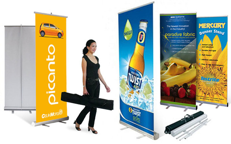 Restautrant Retractable Banner Stands - Louisiana Sign Guy | Signs, Cards, Billboards, and Brochures