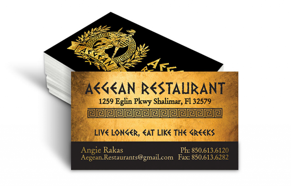 Restaurant Palm Cards - Louisiana Sign Guy | Signs, Cards, Billboards, and Brochures