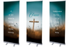 Church Retractable Banner Stands - Louisiana Sign Guy | Signs, Cards, Billboards, and Brochures