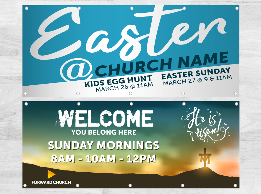 Church Banners - Louisiana Sign Guy | Signs, Cards, Billboards, and Brochures