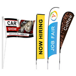 Trade Show Flag - Louisiana Sign Guy | Signs, Cards, Billboards, and Brochures