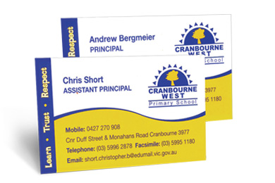 School Business Cards - Louisiana Sign Guy | Signs, Cards, Billboards, and Brochures