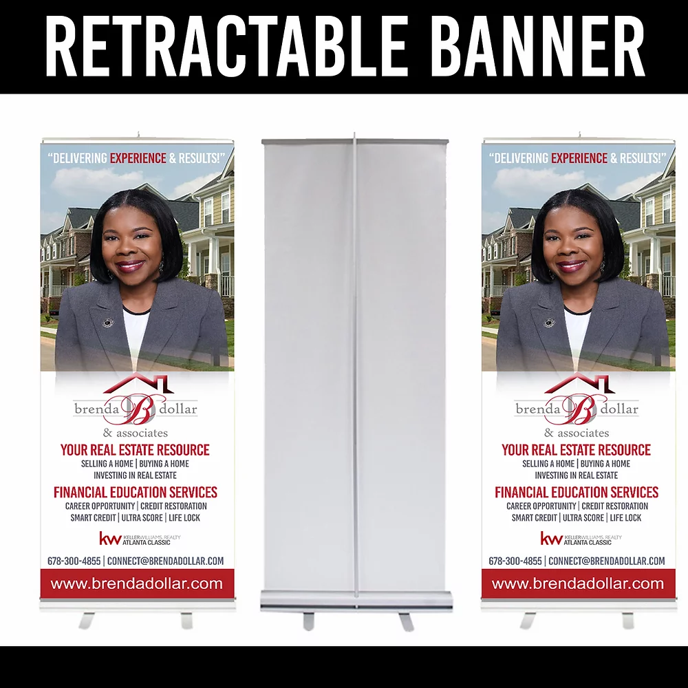 Real Estate Retractable Banners - Louisiana Sign Guy | Signs, Cards, Billboards, and Brochures