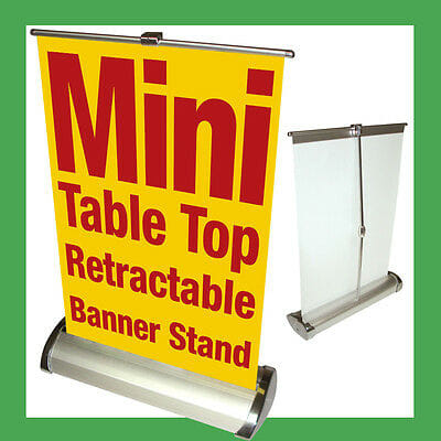 School Table Top Retractable Banners - Louisiana Sign Guy | Signs, Cards, Billboards, and Brochures