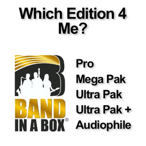 Choosing which Band in a Box Edition is right for You