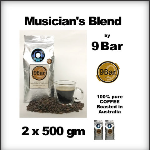 9 Bar Coffee Musician's Bland 2 x 500 g