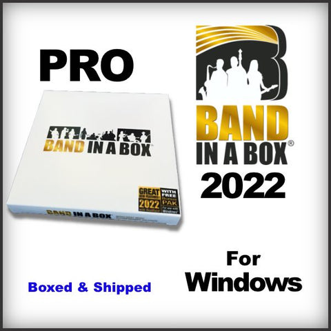 Band in a Box 2021 PRO for Windows - Boxed