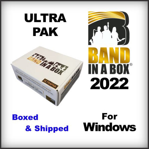 Band in a Box 2021 Ultra Pak WINDOWS shipped on USB HARD DRIVE