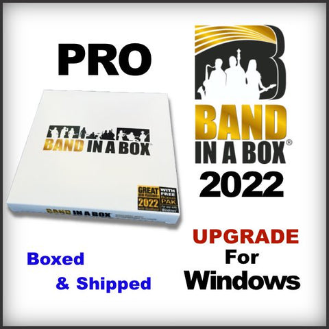 Band in a Box PRO 2021 UPGRADE for Windows - Boxed
