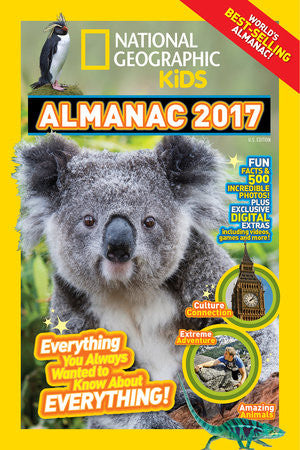 ABOUT NATIONAL GEOGRAPHIC KIDS ALMANAC 2017