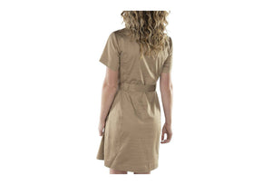 W UTILITY BELTED SHIRT DRESS