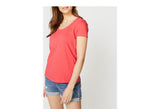 W ANCHOR SCOOP NECK TEE
