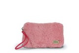 FLUFFY SHEEPSKIN CLUTCH