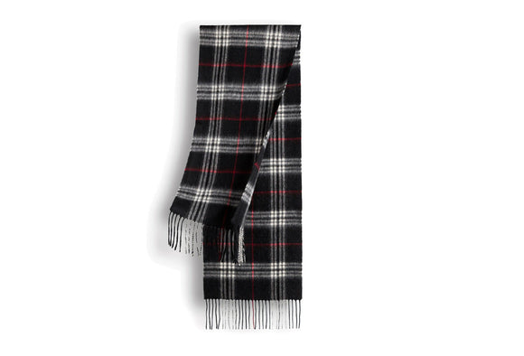 CASHMERE AND WOOL SCARF CHECK