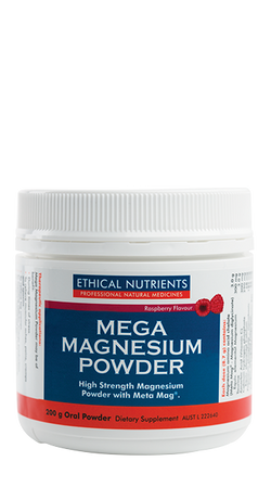 Ethical Nutrients - Mega Magnesium Powder Raspberry 200g