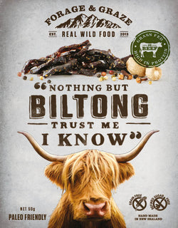 Forage and graze biltong