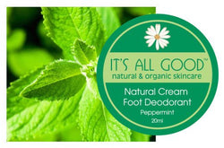Its all good Natural Peppermint Cream foot